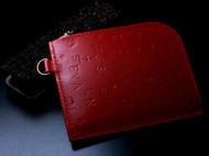 红色Mulberry专用植鞣革钱包
