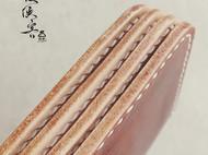 皮侠客PXK出品 咖啡色手工染色 女款长夹 多卡位拉链零钱位设计