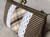 棉麻花边包包