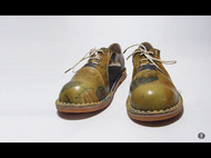 手工植鞣皮复古凉鞋