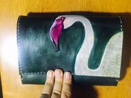 大号鸟包,原创手工皮雕手包五金都没装可自定义