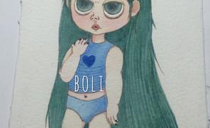 #最近画的画#长发怪娃娃