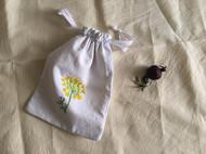 刺绣束口袋  黄色茴香