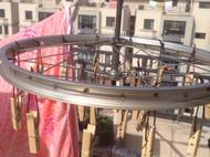 旧物改造:旧自行车轮圈改晾衣神器
