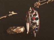 蛇皮铆钉手环