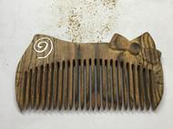 纯手工银丝镶嵌猫梳,打磨中