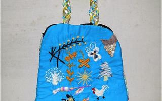 刺绣棒针手提包