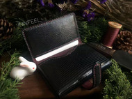【INNFEEL】黑色蜥蜴皮名片卡包