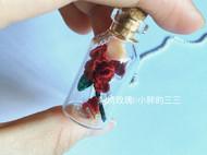 迷你刺绣——瓶栽玫瑰