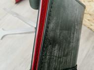 双子座给双子座做的生日礼物,墨绿撞正红/长财布。