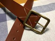 棕色JE马缰革腰带