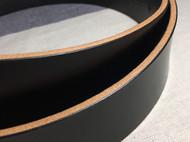 黑色JE马缰革腰带