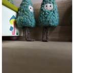 夏日羊毛毡小树人