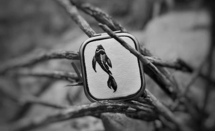 【锦鲤绣】礼物饰品楠楠小张漫生活原创双面镜子牛皮镶边化妆镜