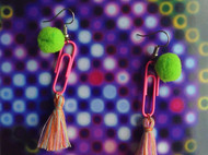 菠萝原创手制  玩味耳环