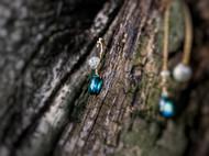 【你的轻奢蓝宝石】楠楠小张漫生活复古不对称原创手工耳链耳环