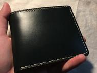 JE墨绿马缰革短夹钱包