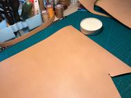 手工 意 原色植鞣 水桶包