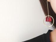 水墨风树脂耳环