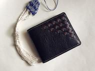 编织短夹钱包