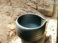大理剑川白族传统黑陶 松木烧制粗陶手工制作公道杯