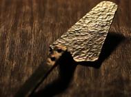 「茶桌上的器物们」金工手作洋白铜蛋糕铲 下午茶点心铲