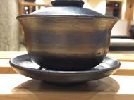 白族传统工艺土窑柴烧黑陶盖碗