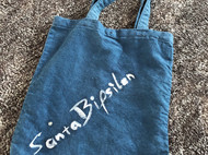 【Santa Bipsilon】蓝染托特袋 纯亚麻面料