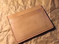 意大利原色植鞣革小卡包