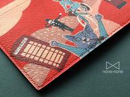 手绘装饰男士薄长夹(coat wallet)