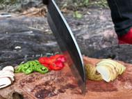 以野外厨房Almazan专用户外厨刀为原型传统手工艺锻打而成圆头老头刀