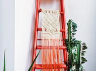 Macrame中式风格染色挂毯