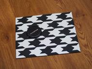 手工法羊皮千鸟格鼠标垫