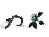 玫瑰耳钉荆棘女纯银防过敏气质韩国个性学生创意耳钉