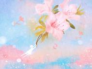 花儿带着棉花糖的云里飞