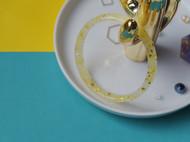 暖黄押花菱面树脂手镯(细款)