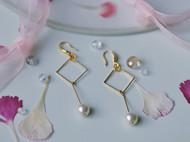 温柔的K金珍珠耳环