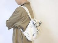 大理石纹男女同款纯棉帆布双肩包