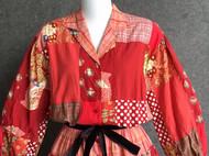 拼布风格复古连衣裙