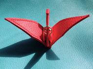 手工皮具千纸鹤植鞣革手工缝制
