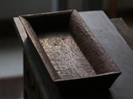 「时间的纹理」手作木收纳盒 长方木茶盘 黑胡桃木果盘