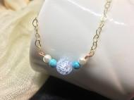 绿松石,珍珠手链