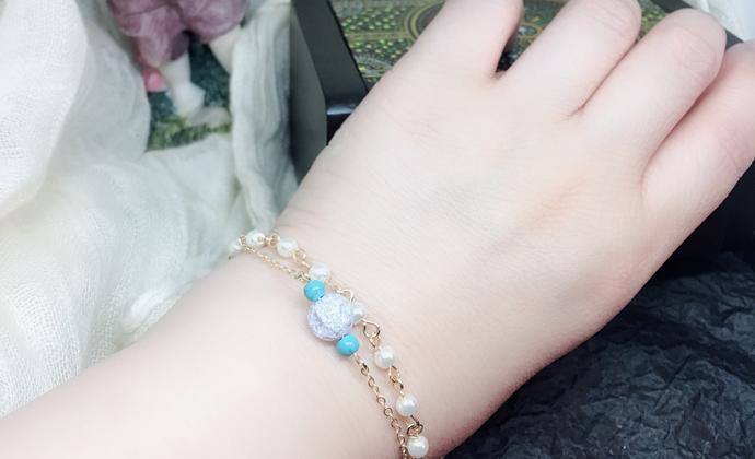 双链,松石,珍珠