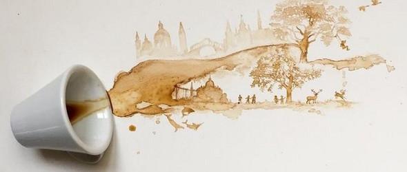 创意咖啡绘画 | Giulia Bernardelli
