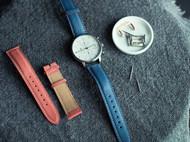藝條 休闲山羊皮手表带手工制作