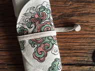 「垂花遙.雲和」手繪筆袋