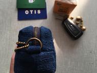 蓝染拼布 小号立体手包