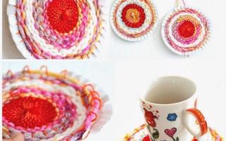 买蛋糕送的盘子别扔 能做太阳花杯垫 墙面装饰