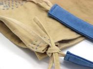 茶染土布刺子绣单肩包