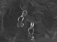 10/100  纯银白晶耳环